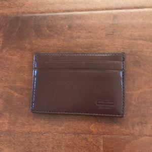 Coach NWOT✨ Men's Water buffalo leather wallet.